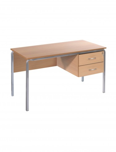 Teachers Desk 1200x600mm Teachers Desk - Crushed Bent CBTD3-126-MD