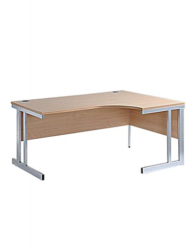 Ergonomic Cantilever Desk - Momento Right or Left Hand 1600mm wide