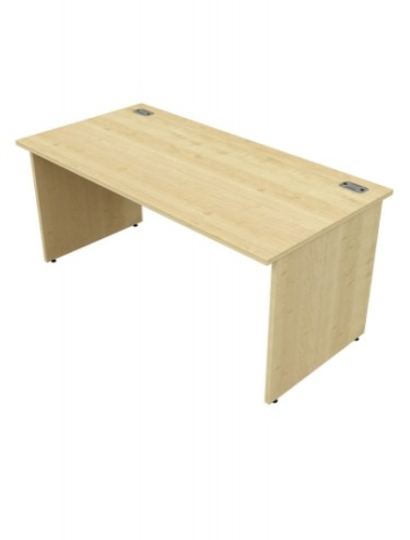 Bordeaux Rectangular Panel End Desk