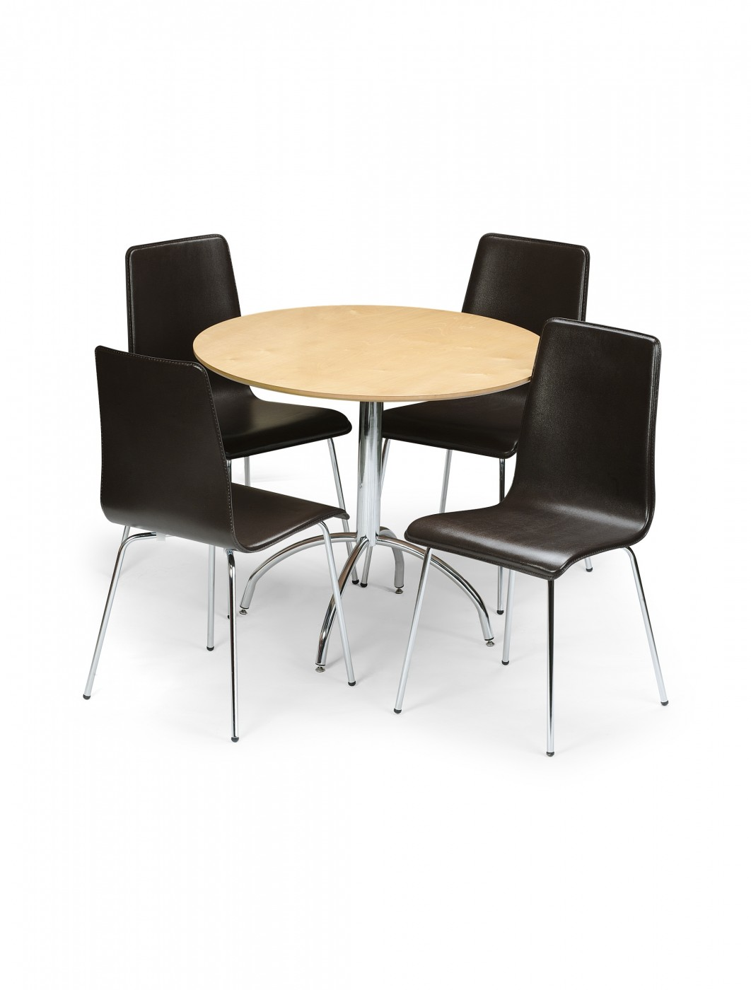 Dining Set MANSET 121 Office Furniture : 1380036245Q4dRMS6Dmandymapletablewithleatherchairs from www.121officefurniture.co.uk size 1062 x 1400 jpeg 94kB