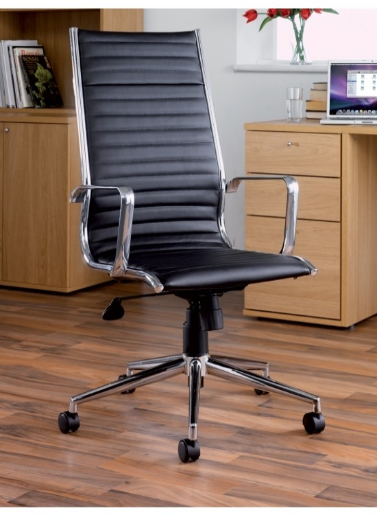 Bari High Back Leather Chair BARI300T1