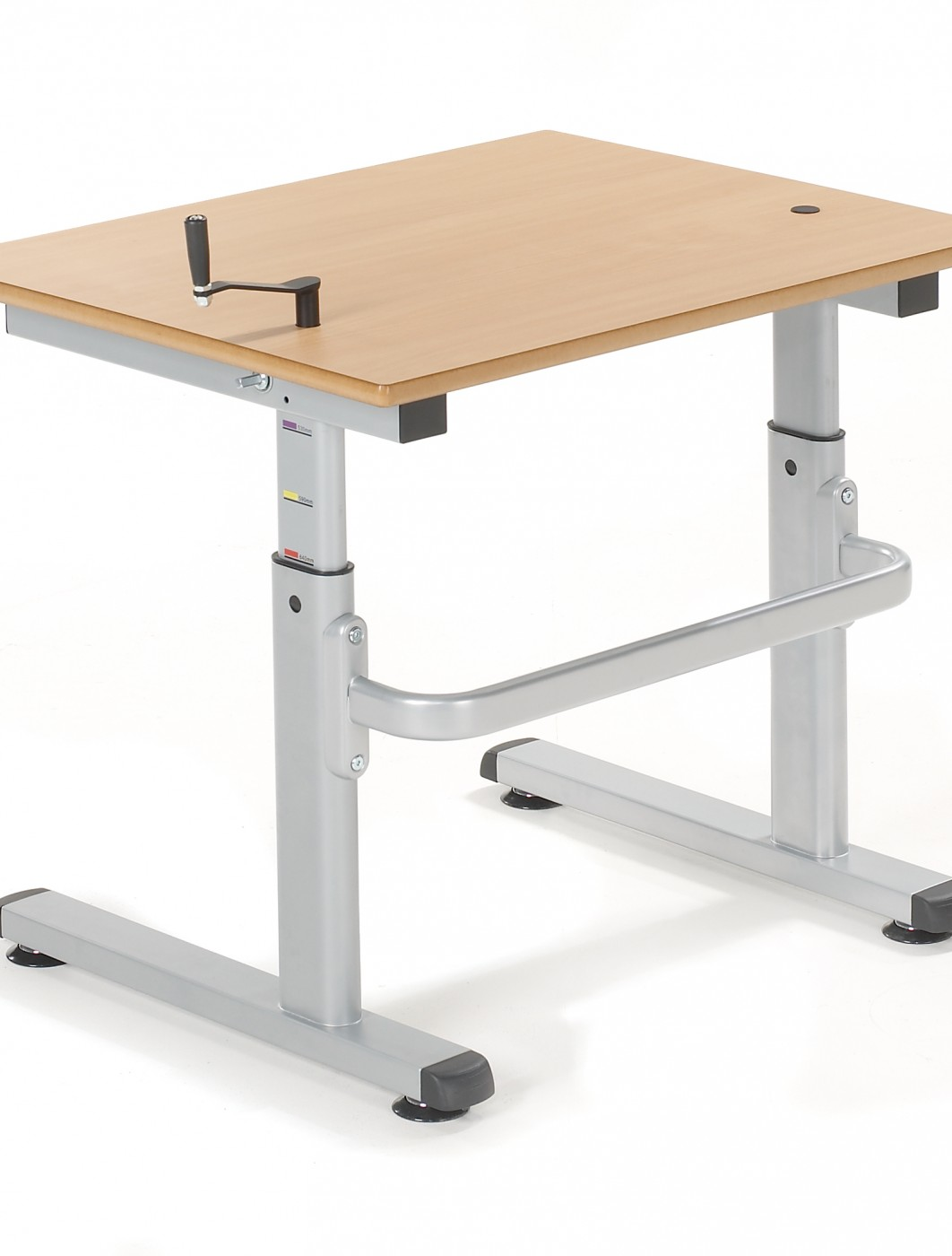 school table. Adjustable Classroom Table Metalliform HA200 Height Primary/Nursery - Enlarged View School O