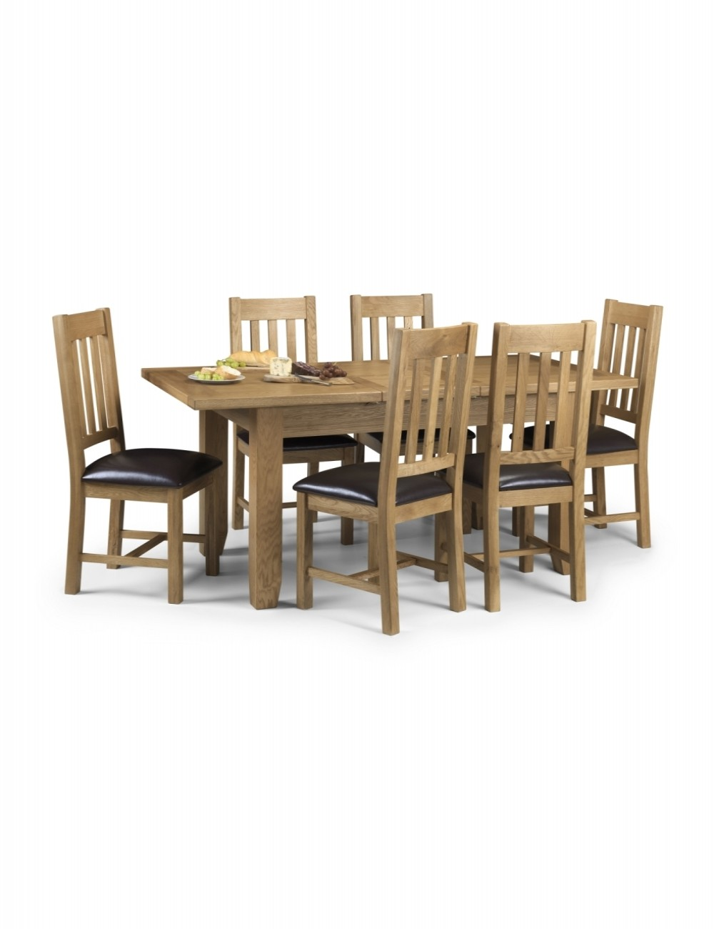 Julian bowen astoria dining set 4 chairs ast001 4 x ast002 for 4 x dining room chairs
