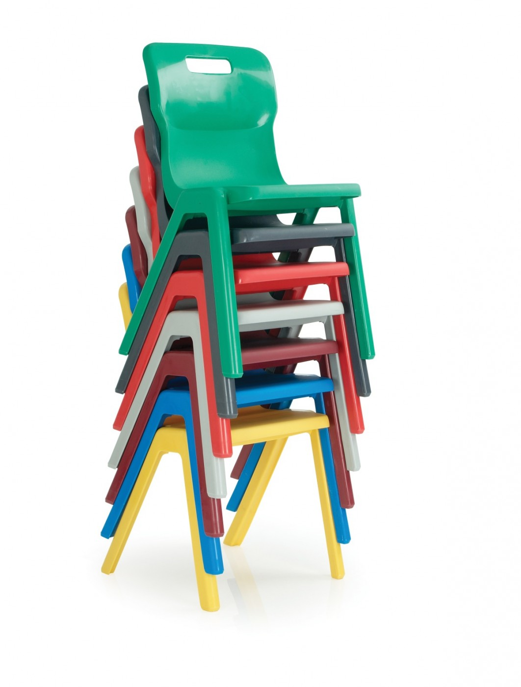 Classroom chairs stacked - Titan One Piece Chair Enlarged View