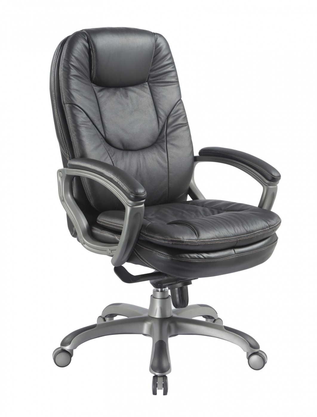 Office Chairs - Kiev Leather Office Chair BCL/U646/LBK