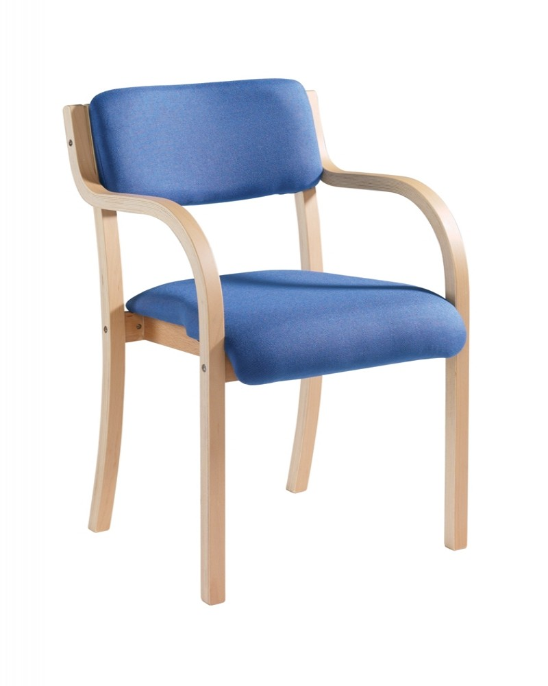 Charmant PRA50001 Wood Frame Stack Chair   Prague With Arms   Enlarged View