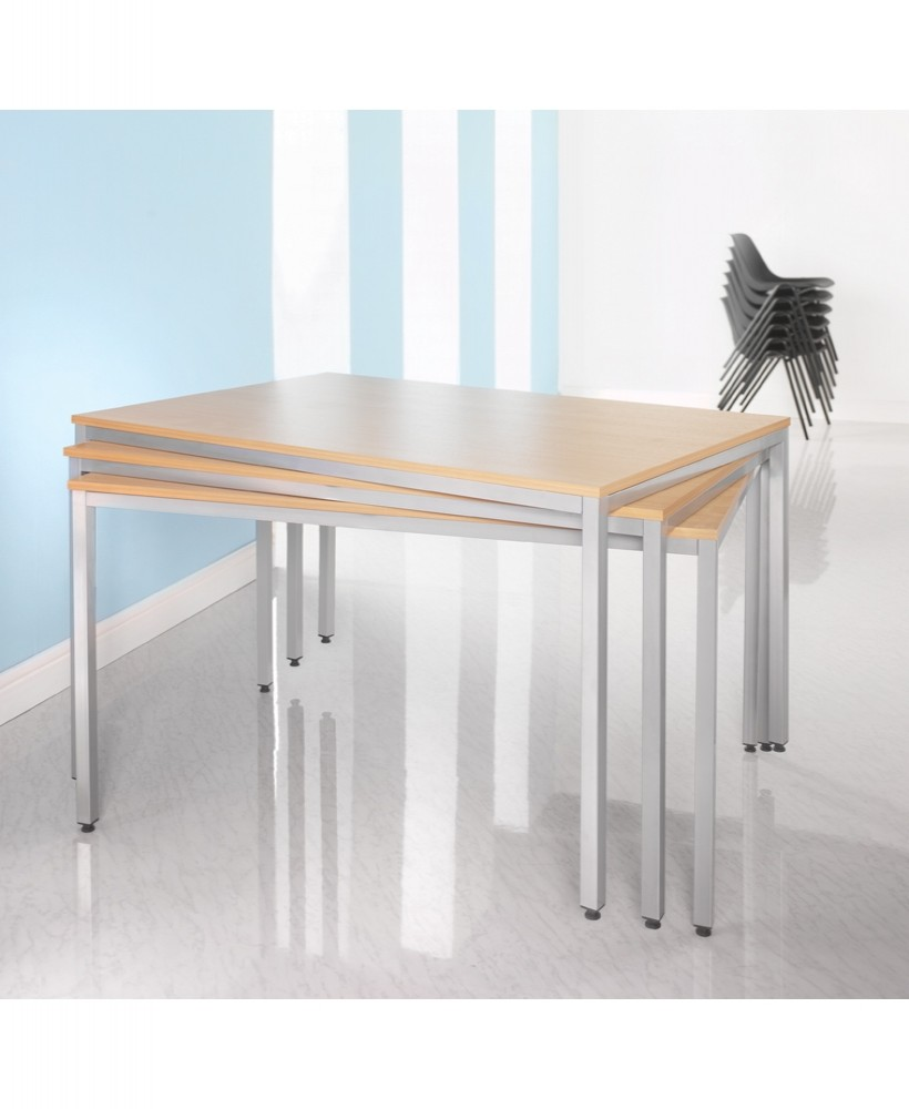 Flexi table 1200mm wide - Silver Frame