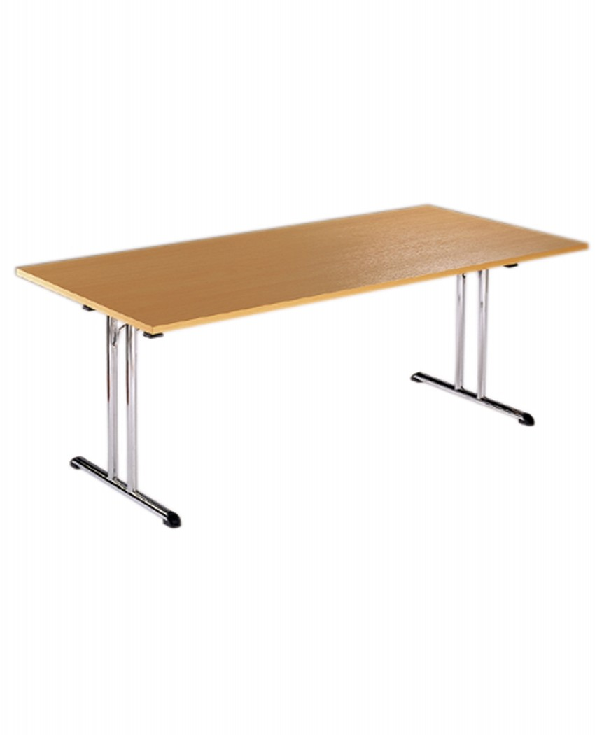 Folding Table F1 Flexitable Chrome Folding Legs   1800mm Wide   Enlarged  View