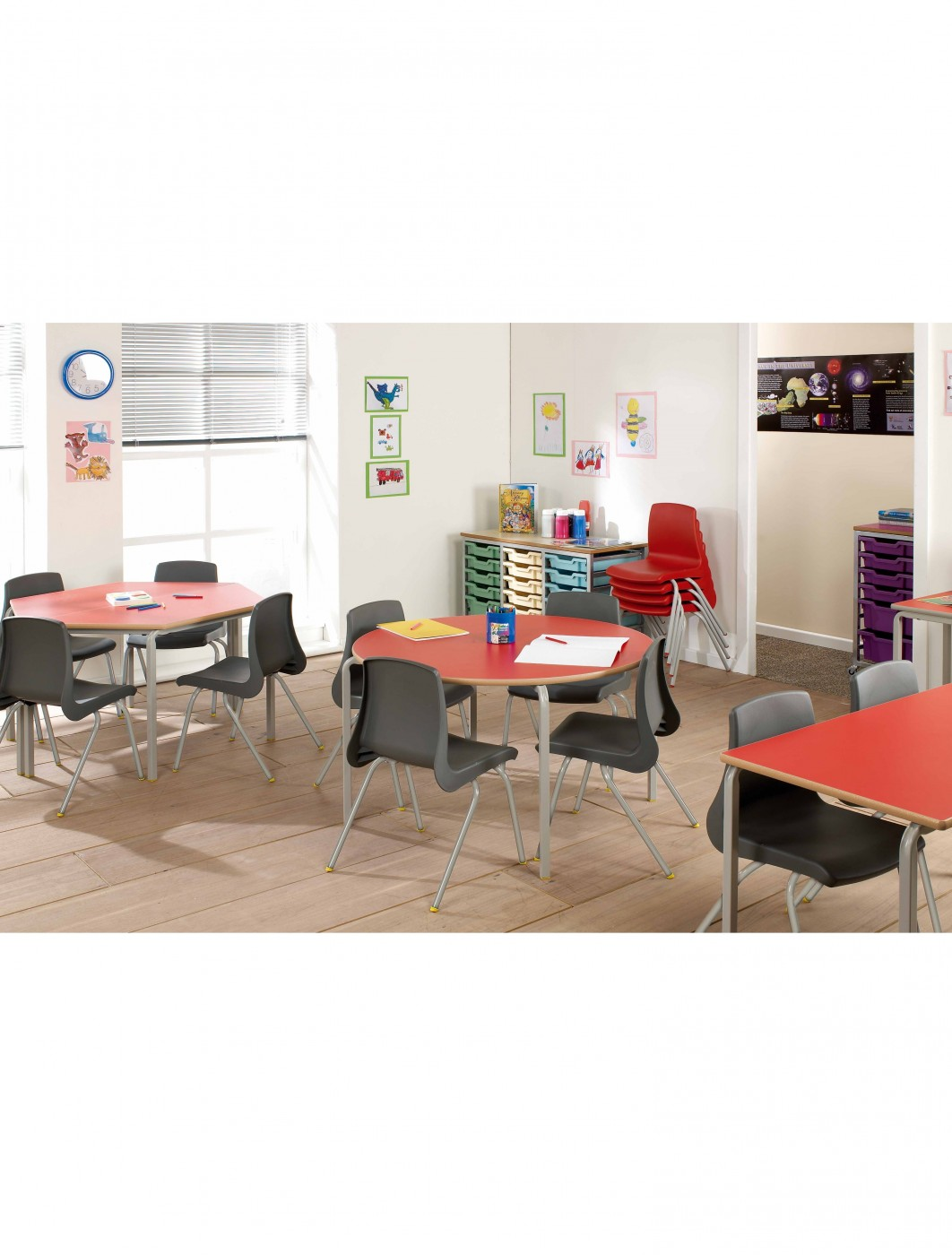 CBSQ-115-MD Rectangular Stacking Tables - School Stacking Tables